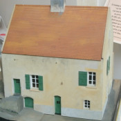 A tactile model of Louis Braille's home (in the Louis Braille museum in Coupvray, France)